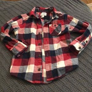 Children's Place plaid Button Front
